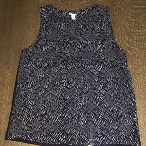 NWOT a new day size S navy blue tank top blouse